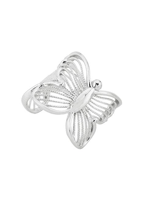 Argentum Concept Kelebek Motifli Gümüş Kıkırdak Küpe Renkli